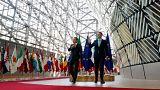 EC President Donald Tusk welcomes Ireland's PM Leo Varadkar