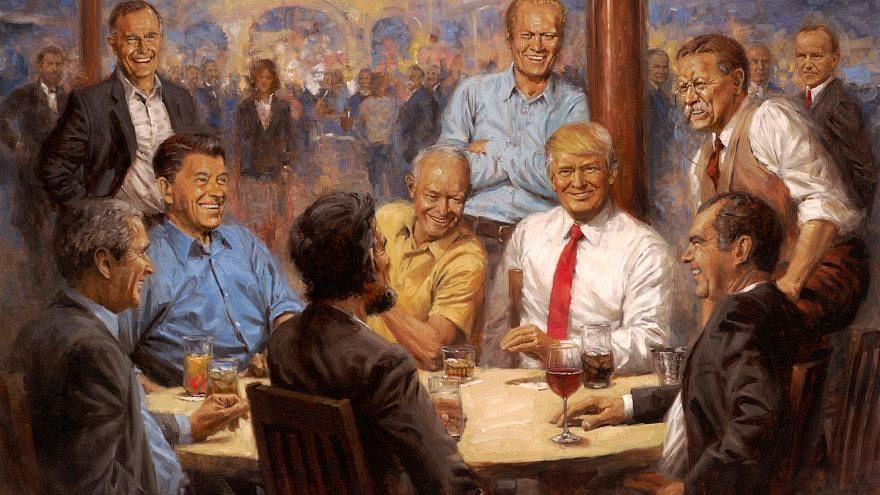 """لوحة """"النادي الجمهوري"""" للفنان الأمريكي آندي توماس"""