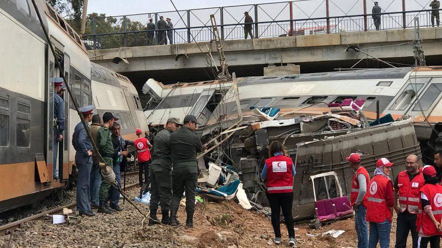 Varios muertos y numerosos heridos tras un accidente de tren en Marruecos