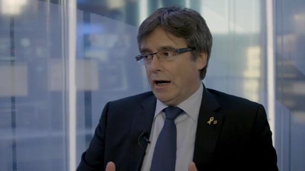 """Puigdemont sur euronews : """"Être catalan, c'est être démocrate"""""""