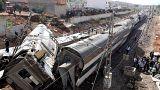 Au Maroc, le déraillement d'un train de passagers fait au mois sept morts