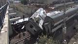 Train derails near Moroccan capital Rabat