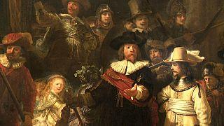 """""""La ronde de nuit"""" de Rembrandt restaurée en public"""