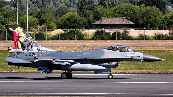تدمير مقاتلة أف 16 بلجيكية خطأ في قاعدة عسكرية جنوب البلاد