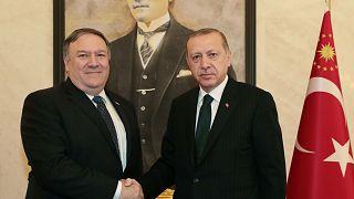 Cumhurbaşkanı Erdoğan, ABD Dışişleri Bakanı Mike Pompeo'yu kabul etti.