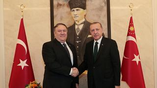 بعد محادثات مع السعوديين بومبيو يلتقي إردوغان وأوغلو بشأن اختفاء خاشقجي