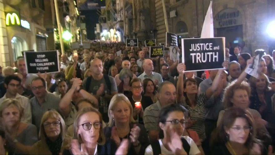 Az egy éve megölt máltai újságírónőre emlékeztek