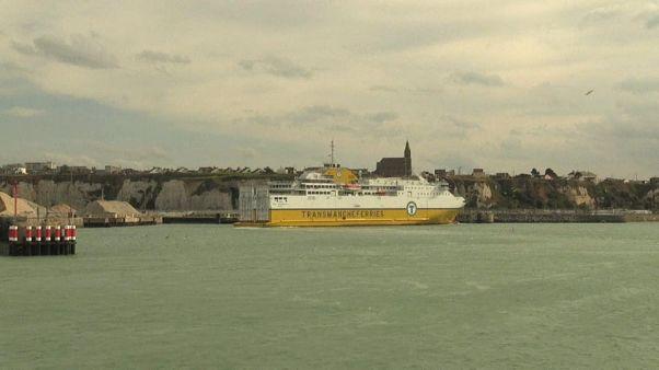 Dieppe-Newhaven : un ferry défie la tempête Brexit