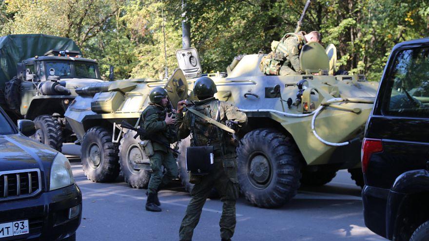 Взрыв и нападение в Керченском политехническом колледже