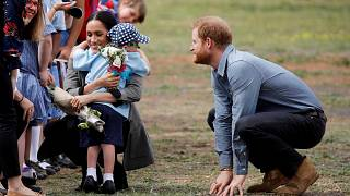 Watch: Prince Harry's beard proves fascinating for young boy