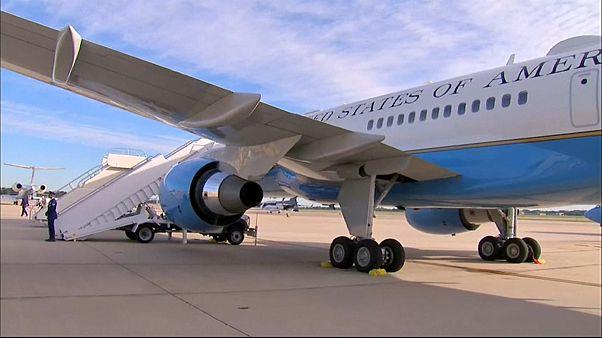 شاهد: هبوط إضطراري لطائرة ميلانيا ترامب بسبب تصاعد الدخان من مقصورة القيادة