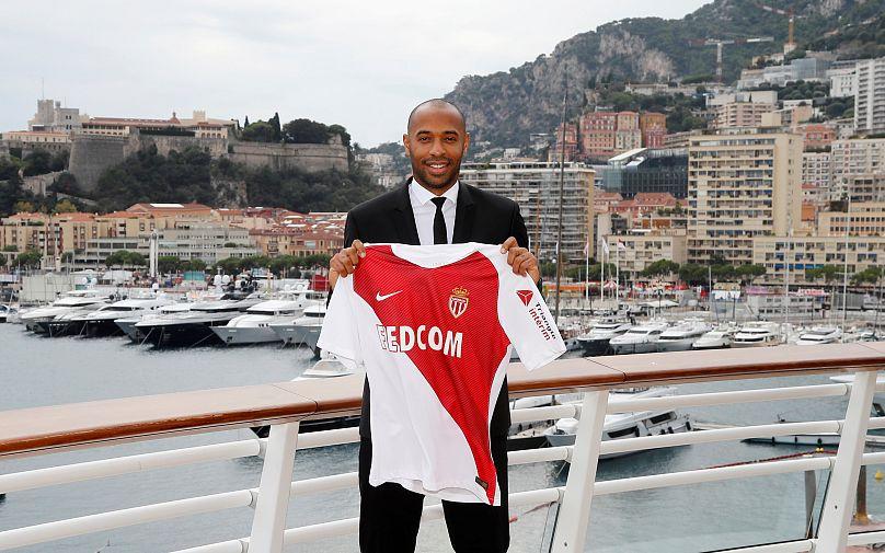 Thierry Henry, il nuovo allenatore del Monaco. Foto: REUTERS/Eric Gaillard.