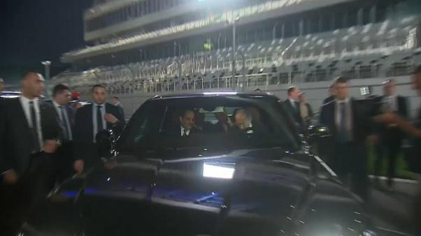 شاهد: بوتين والسيسي في جولة على متن سيارة ليموزين روسية