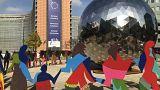 الساحة العامة أمام مبنى المفوضية الأوروبية في العاصمة بروكسل