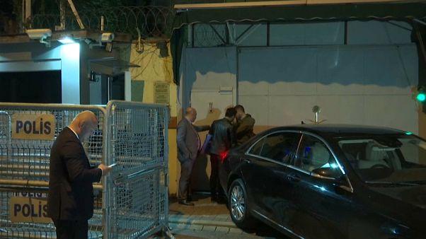 مدخل القنصلية السعوجية في اسطنبول الأربعاء 17-10-18