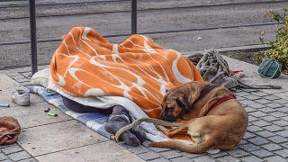 Egy hajléktalan Budapesten 2017-ben