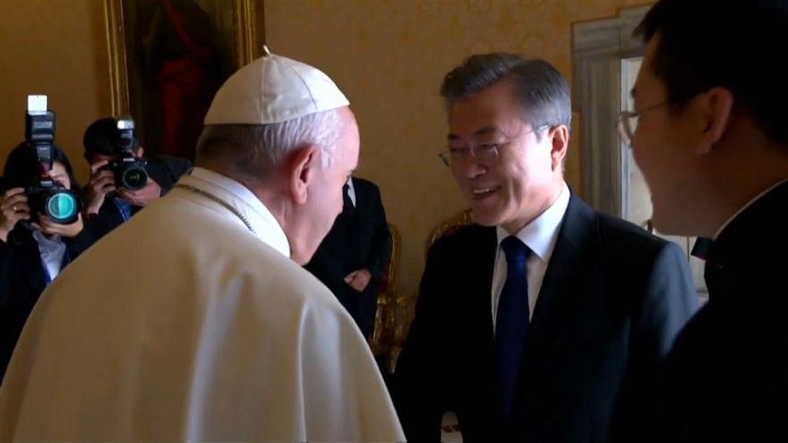 Da papa Francesco il presidente sudcoreano Moon