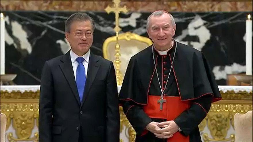 Папа римский принял Мун Чжэ Ина