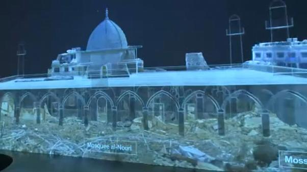 Digital reconstruction of  mosque destroyed in fighting in Iraq