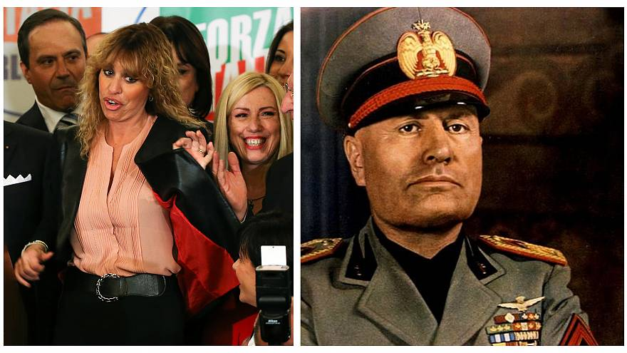 Mussolini's granddaughter threatens to report people offending fascist leader