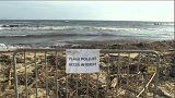 شاهد: تنظيف شاطئ الريفييرا الفرنسي بعد حادث تصادم سفينتين