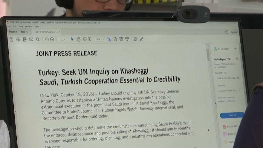 بيان المنظمات الحقوقية والصحفية تدعو الأمم المتحدة للتخحيق باختفاء خاشقجي