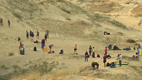 Watch: Why a Ukrainian desert is proving popular with tourists