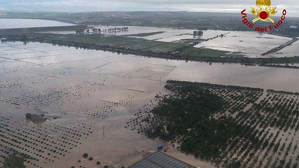 Dramatische Unwetter: Land unter in Sizilien