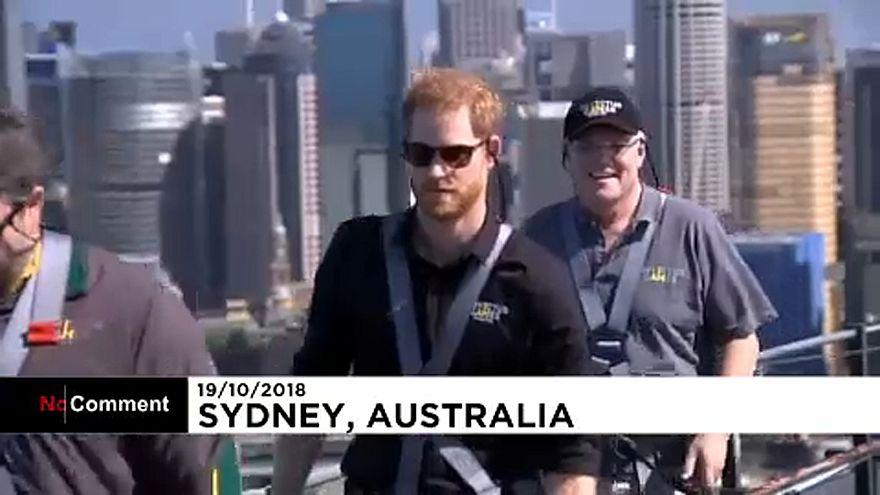 Prince Harry and Australian PM scale the Sydney Harbour Bridge