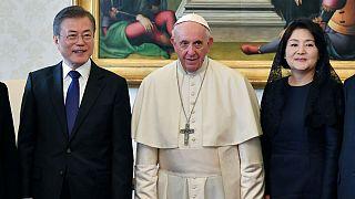 Pope Francis meets South Korean President Moon Jae-in