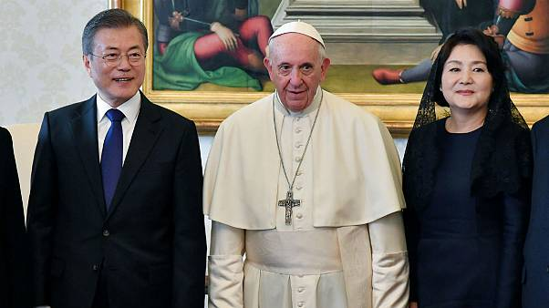 Pope Francis meets South Korean President Moon Jae-in