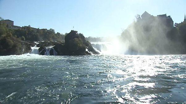 Rheinfall leidet unter Wassermangel