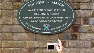 The longest ever tennis match was played in Wimbledon in 2010.