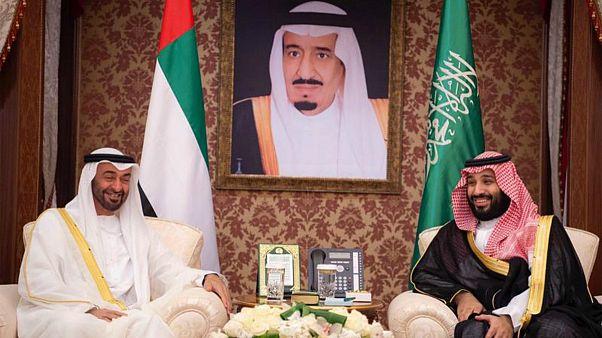 ملاقات محمد بن زاید آل نهیان، ولیعهد ابوظبی با محمد بن سلمان در عربستان