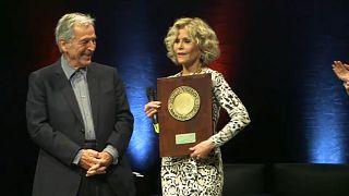 Jane Fonda, estrella en el festival de cine de Lyon