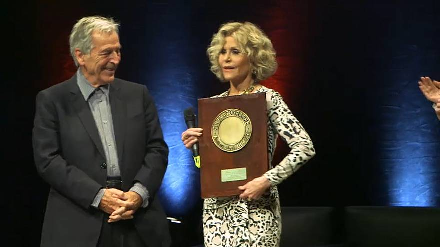 Jane Fonda honoured in the birthplace of cinema