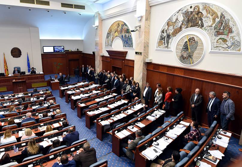 Macedonian parliament votes to approve name change