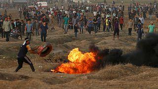 İsrail güçleri Gazze sınırında 130 Filistinliyi yaraladı