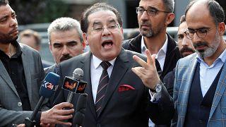 أيمن نور خلال المؤتمر الصحفي في إسطنبول