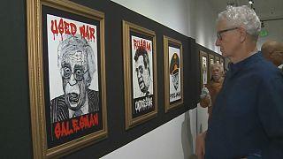 پرترههای وزراء و مشاوران ترامپ در نمایشگاه «کابینه وحشت»