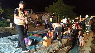 Súlyos vonatbaleset Tajvanon