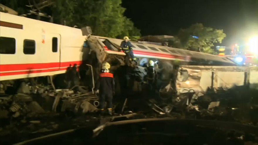Taïwan : un accident de train fait au moins 22 morts