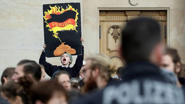 Pegida demonstations outnumbered by anti-Pegida demonstrators
