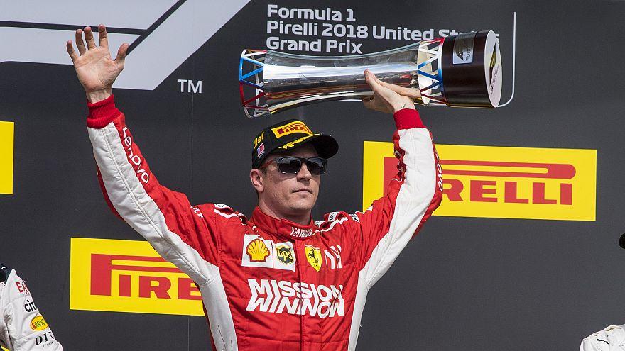 Formula 1'de sürpriz: 39'luk Raikkonen ABD Grand Prix'sinde zafere ulaştı