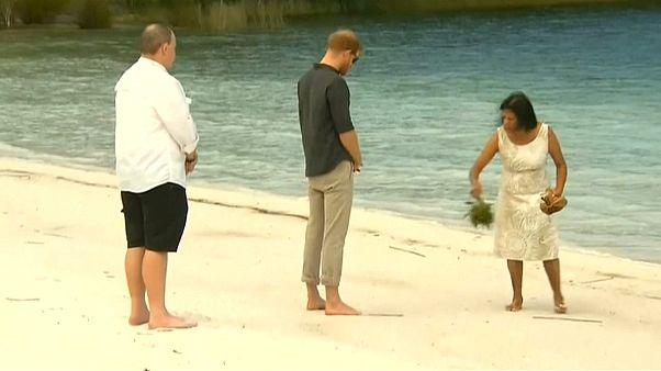 شاهد: الأمير هاري في مياه بحيرة ماكنزي
