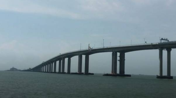 Watch: World's longest cross-sea bridge opens on Tuesday