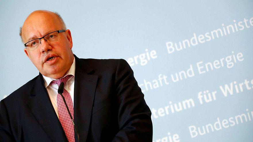 وزير الاقتصاد الألماني بيتر ألتماير في برلين يوم 17 يوليو تموز 2018