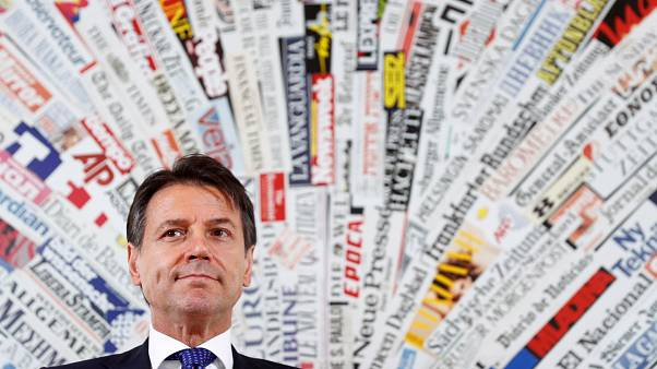 Italy's Prime Minister Giuseppe Conte holds a news conference in Rome