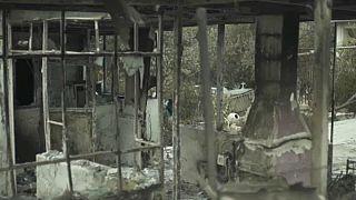 La búsqueda de los desaparecidos tras el incendio de Mati