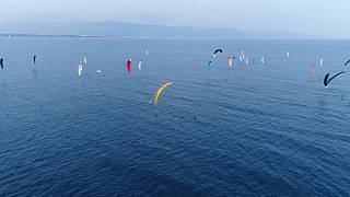 Campeonato de kitefoil en Cerdeña